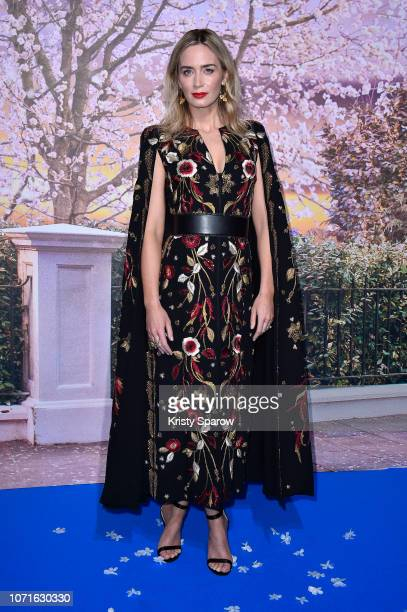"Emily Blunt attends Disney's ""Mary Poppins Returns"" Paris Gala Screening at UGC Cine Cite Bercy on December 10, 2018 in Paris, France."