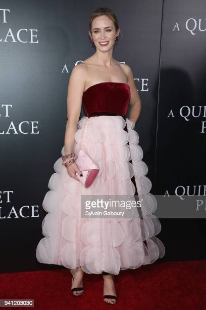 Emily Blunt attends New York Premiere of 'A Quiet Place' on April 2 2018 in New York City