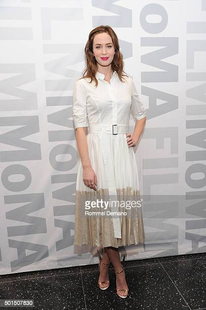 Emily Blunt attends 'Sicario' New york Screening at Museum of Modern Art on December 15 2015 in New York City