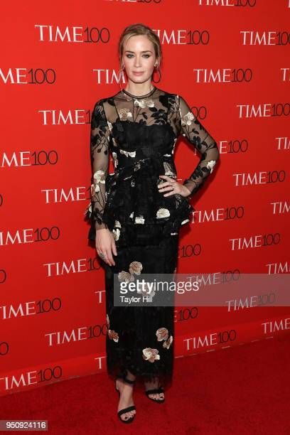 Emily Blunt attends the 2018 Time 100 Gala at Frederick P Rose Hall Jazz at Lincoln Center on April 24 2018 in New York City