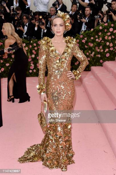 Emily Blunt attends The 2019 Met Gala Celebrating Camp: Notes on Fashion at Metropolitan Museum of Art on May 06, 2019 in New York City.