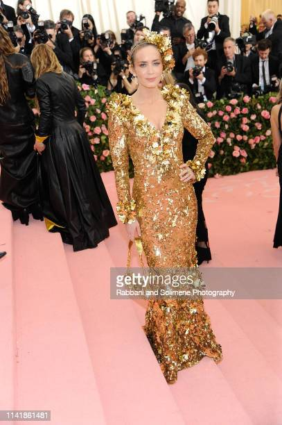 Emily Blunt attends The 2019 Met Gala Celebrating Camp Notes On Fashion Arrivalsat The Metropolitan Museum of Art on May 6 2019 in New York City