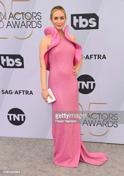 Emily Blunt attends the 25th Annual Screen ActorsGuild Awards at The Shrine Auditorium on January 27 2019 in Los Angeles California