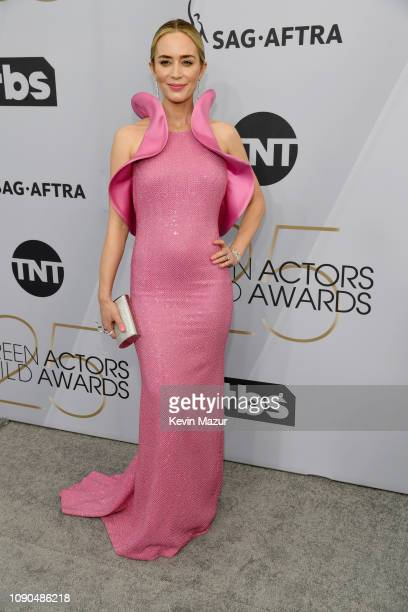 Emily Blunt attends the 25th Annual Screen ActorsGuild Awards at The Shrine Auditorium on January 27, 2019 in Los Angeles, California. 480568