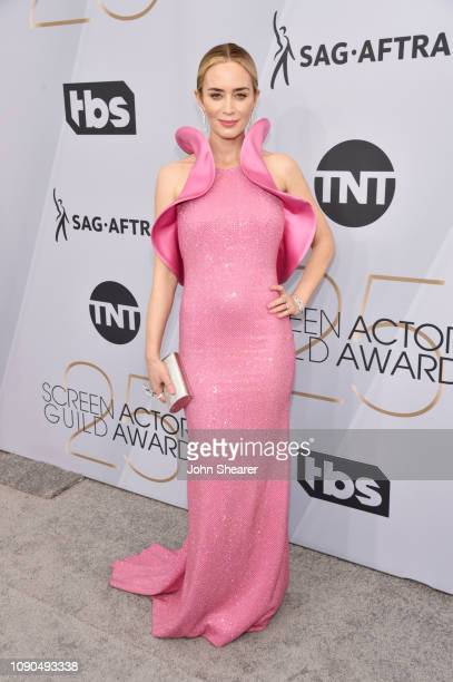 Emily Blunt attends the 25th Annual Screen Actors Guild Awards at The Shrine Auditorium on January 27 2019 in Los Angeles California