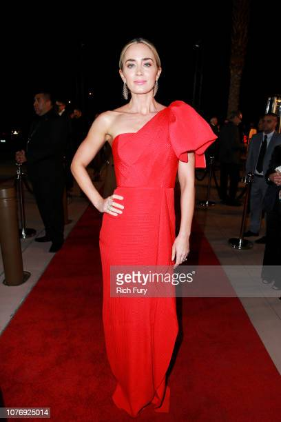 Emily Blunt attends the 30th Annual Palm Springs International Film Festival Film Awards Gala at Palm Springs Convention Center on January 3 2019 in...
