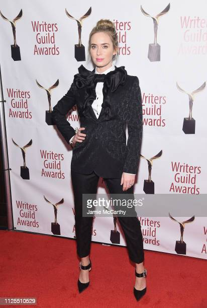 Emily Blunt attends the 71st Annual Writers Guild Awards New York ceremony at Edison Ballroom on February 17 2019 in New York City