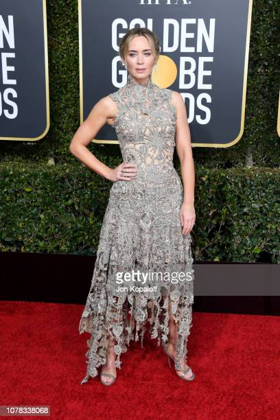 Emily Blunt attends the 76th Annual Golden Globe Awards at The Beverly Hilton Hotel on January 6 2019 in Beverly Hills California