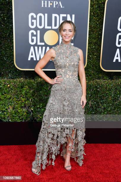 Emily Blunt attends the 76th Annual Golden Globe Awards held at The Beverly Hilton Hotel on January 06 2019 in Beverly Hills California