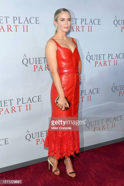 """Emily Blunt attends the """"A Quiet Place Part II"""" World Premiere at Rose Theater, Jazz at Lincoln Center on March 08, 2020 in New York City."""