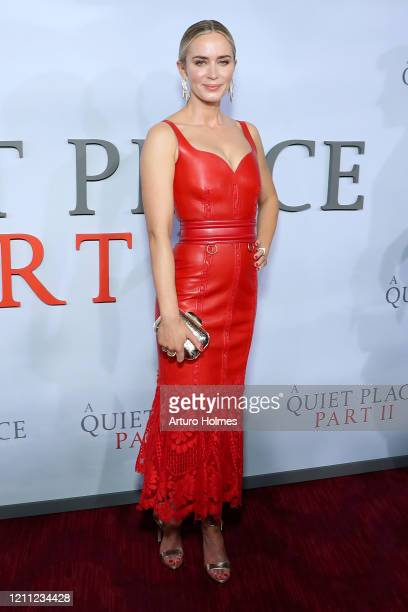 "Emily Blunt attends the ""A Quiet Place Part II"" World Premiere at Rose Theater, Jazz at Lincoln Center on March 08, 2020 in New York City."