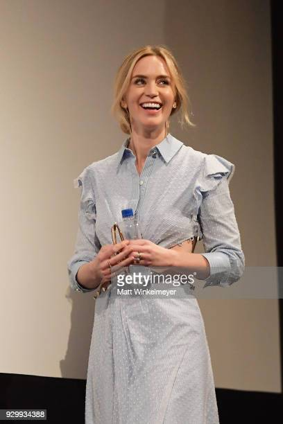 """Emily Blunt attends the """"A Quiet Place"""" Premiere 2018 SXSW Conference and Festivals at Paramount Theatre on March 9, 2018 in Austin, Texas."""