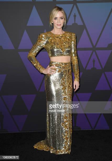Emily Blunt attends the Academy of Motion Picture Arts and Sciences' 10th annual Governors Awards at The Ray Dolby Ballroom at Hollywood Highland...
