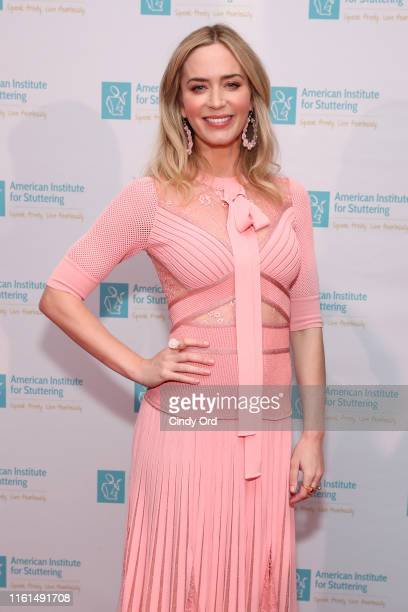 Emily Blunt attends the American Institute For Stuttering 13th Annual Gala at Gustavino's on July 11, 2019 in New York City.