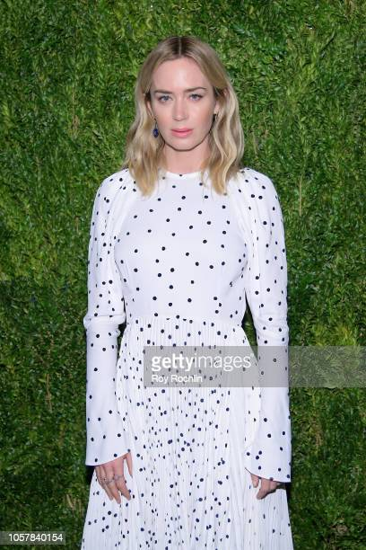 Emily Blunt attends the CFDA / Vogue Fashion Fund 15th Anniversary Event at Brooklyn Navy Yard on November 5 2018 in Brooklyn New York