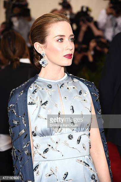 Emily Blunt attends the China Through The Looking Glass Costume Institute Benefit Gala at the Metropolitan Museum of Art on May 4 2015 in New York...