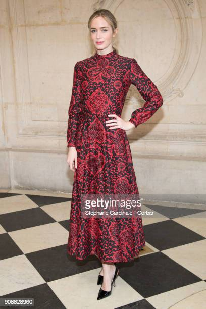 Emily Blunt attends the Christian Dior Haute Couture Spring Summer 2018 show as part of Paris Fashion Week January 22 2018 in Paris France