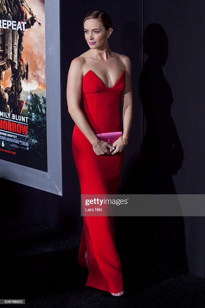 """Emily Blunt Attends The """"Edge Of Tomorrow"""" New York"""