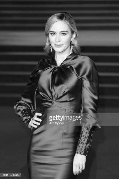 Emily Blunt attends the European Premiere of 'Mary Poppins Returns' at Royal Albert Hall on December 12 2018 in London England