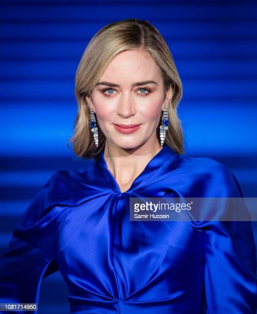 "Emily Blunt attends the European Premiere of ""Mary Poppins Returns"" at Royal Albert Hall on December 12, 2018 in London, England."
