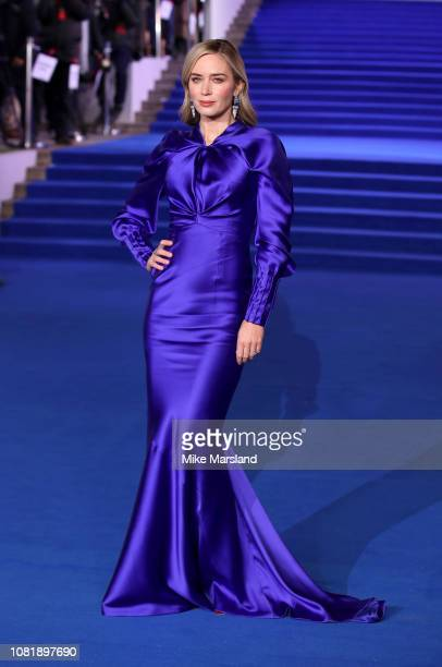 Emily Blunt attends the European Premiere of Mary Poppins Returns at Royal Albert Hall on December 12 2018 in London England