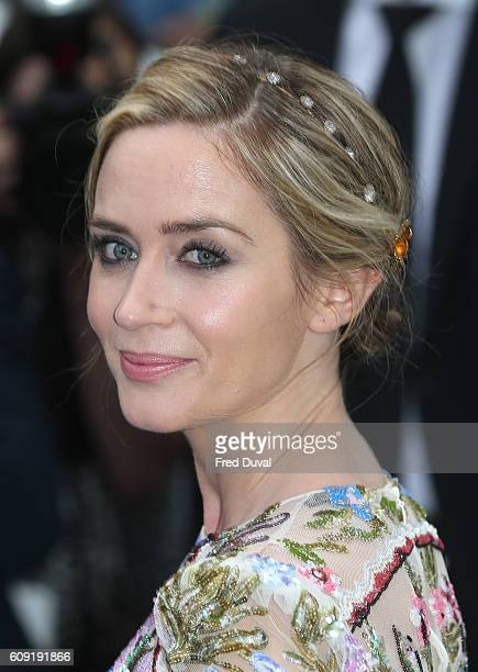 Emily Blunt attends 'The Girl On The Train' world premiere at Odeon Leicester Square on September 20 2016 in London England