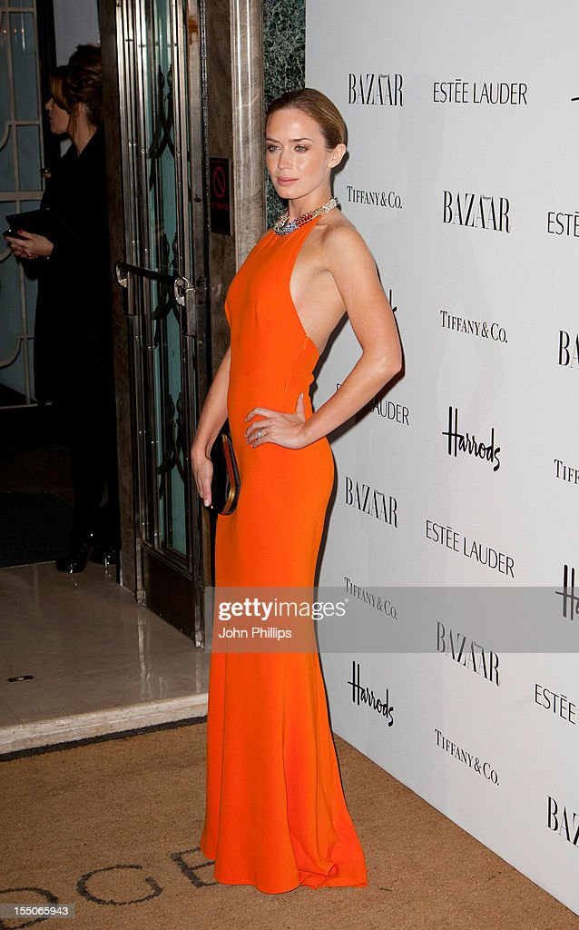 Emily Blunt attends the Harper's Bazaar Woman of the Year Awards at Claridge's Hotel on October 31, 2012 in London, England.