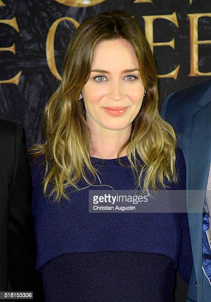 Emily Blunt attends 'The Huntsman The Ice Queen' Photocall at Park Hyatt Hamburg on March 30 2016 in Hamburg Germany