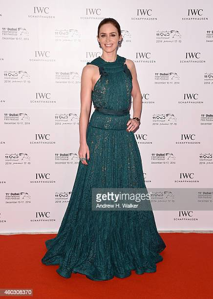Emily Blunt attends the IWC Filmmakers award during day two of the 11th Annual Dubai International Film Festival held at the Madinat Jumeriah Complex...