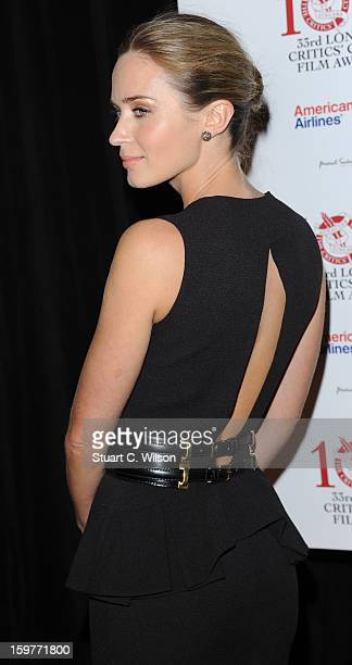 Emily Blunt attends the London Critics' Circle Film Awards at The Mayfair Hotel on January 20 2013 in London England