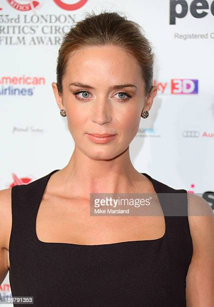 Emily Blunt attends the London Film Critics Circle Film Awards at The Mayfair Hotel on January 20 2013 in London England
