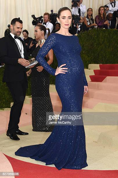 Emily Blunt attends the 'Manus x Machina Fashion In An Age Of Technology' Costume Institute Gala at Metropolitan Museum of Art on May 2 2016 in New...
