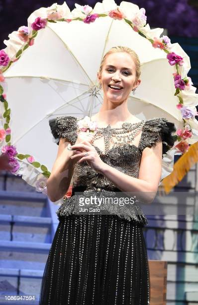 Emily Blunt attends the 'Mary Poppins Returns' Japan premiere at the Shinagawa Prince Hotel Stellar Ball on January 23 2019 in Tokyo Japan