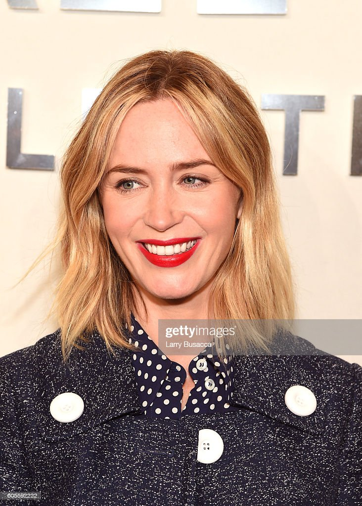Emily Blunt attends the Michael Kors Spring 2017 Runway Show during New York fashion week at Spring Studios on September 14, 2016 in New York City.