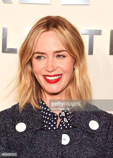 Emily Blunt attends the Michael Kors Spring 2017 Runway Show during New York fashion week at Spring Studios on September 14 2016 in New York City