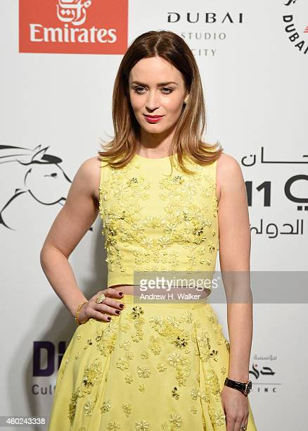 Emily Blunt attends the Opening Night Gala during day one of the 11th Annual Dubai International Film Festival held at the Madinat Jumeriah Complex...