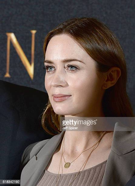 Emily Blunt attends the photocall for 'The Huntsman Winter's War' at Claridges Hotel on March 31 2016 in London England