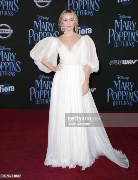 Emily Blunt attends the premiere of Disney's Mary Poppins Returns at the El Capitan Theatre on November 29 2018 in Los Angeles California