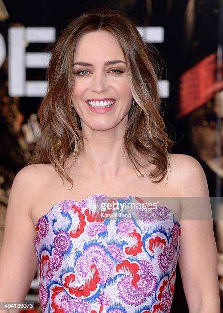 Emily Blunt attends the premiere of Edge Of Tomorrow held at the BFI IMAX on May 28 2014 in London United Kingdom