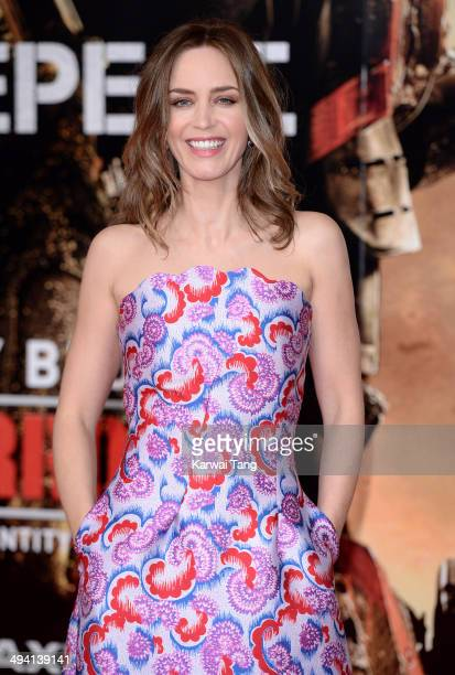 """Emily Blunt attends the premiere of """"Edge Of Tomorrow"""" held at the BFI IMAX on May 28, 2014 in London, United Kingdom."""