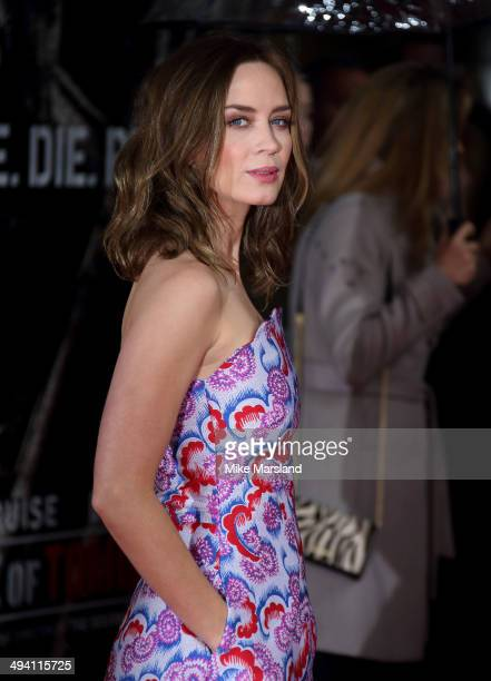 Emily Blunt attends the premiere of Edge Of Tomorrow on May 28 2014 in London United Kingdom