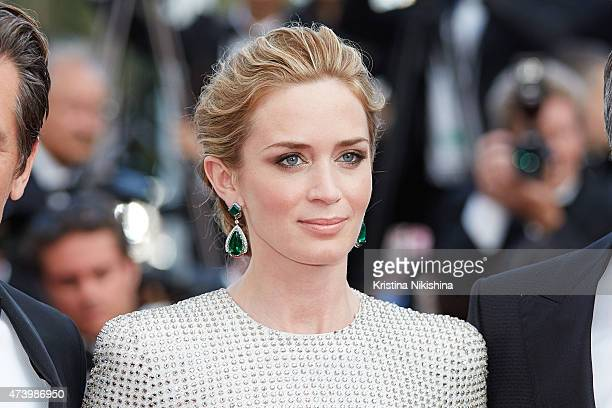 Emily Blunt attends the Premiere of 'Sicario' during the 68th annual Cannes Film Festival on May 19 2015 in Cannes France