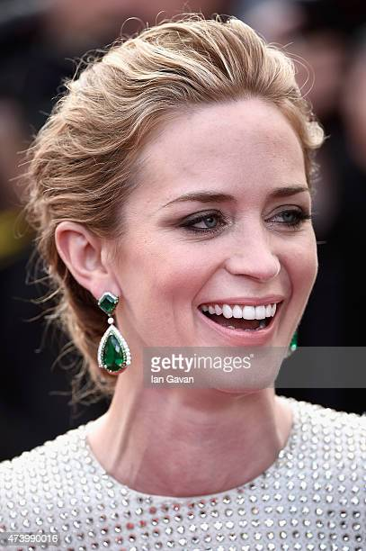 Emily Blunt attends the Premiere of Sicario during the 68th annual Cannes Film Festival on May 19 2015 in Cannes France