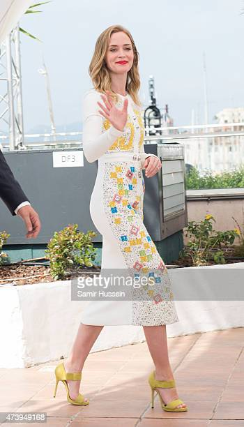 """Emily Blunt attends the """"Sicario"""" Photocall during the 68th annual Cannes Film Festival on May 19, 2015 in Cannes, France."""