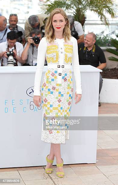 Emily Blunt attends the Sicario Photocall during the 68th annual Cannes Film Festival on May 19 2015 in Cannes France