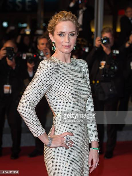 Emily Blunt attends the Sicario Premiere during the 68th annual Cannes Film Festival on May 19 2015 in Cannes France