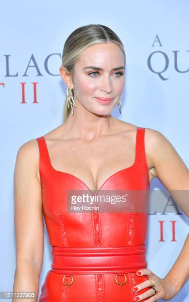 "Emily Blunt attends the World Premiere of ""A Quiet Place Part II"" presented by Paramount Pictures, at the Rose Theater at Jazz at Lincoln Center's..."