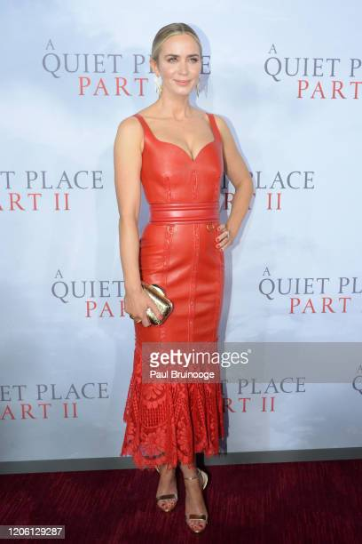 """Emily Blunt attends the world premiere of """"A Quiet Place Part II"""" on March 8, 2020 at Rose Theater, Jazz at Lincoln Center in New York City."""