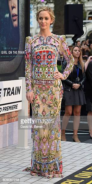 Emily Blunt attends the World Premiere of The Girl On The Train at Odeon Leicester Square on September 20 2016 in London England