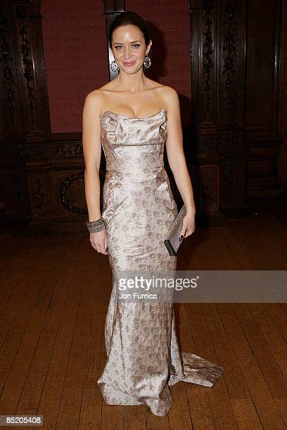 Emily Blunt attends the Young Victoria afterparty at Kensington Palace on March 3 2009 in London England